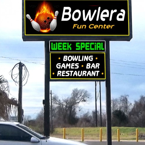 Bowlera Billboard Sign