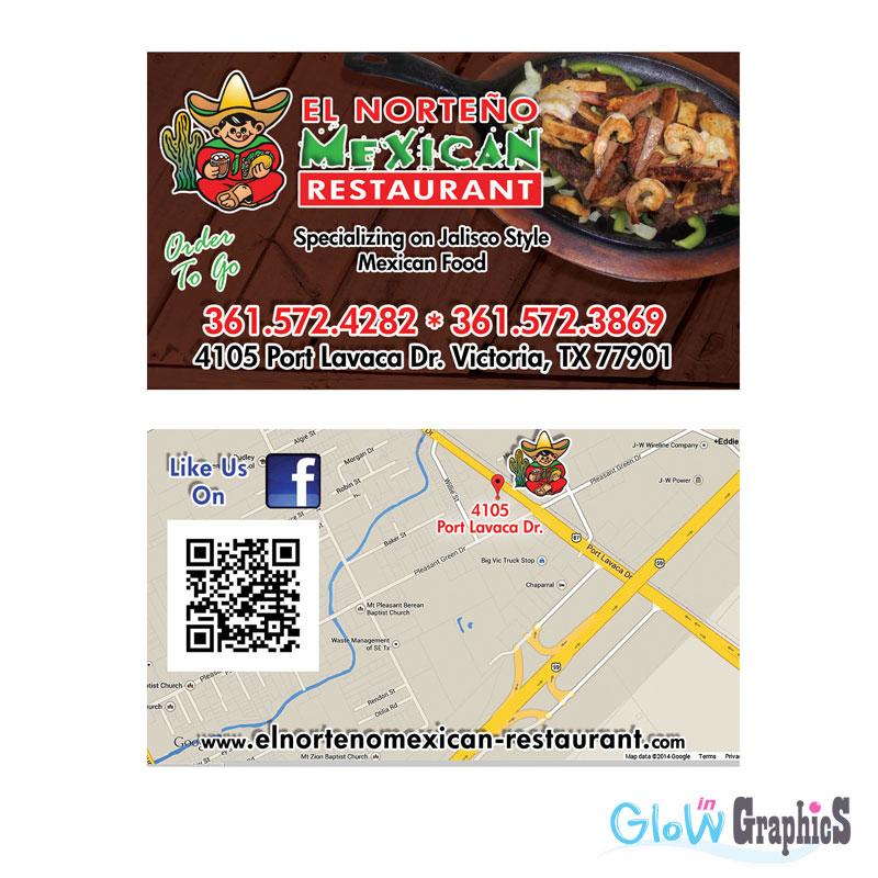 Digital printing custom printed restaurant menus flyers for Mexican restaurant business cards