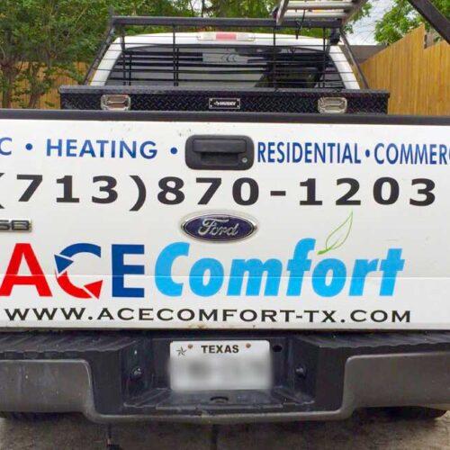Ace Comfort - Vinyl Truck Lettering